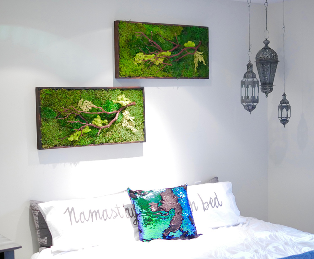 Charmant ... Moss Wall Art Home 18x36 ...