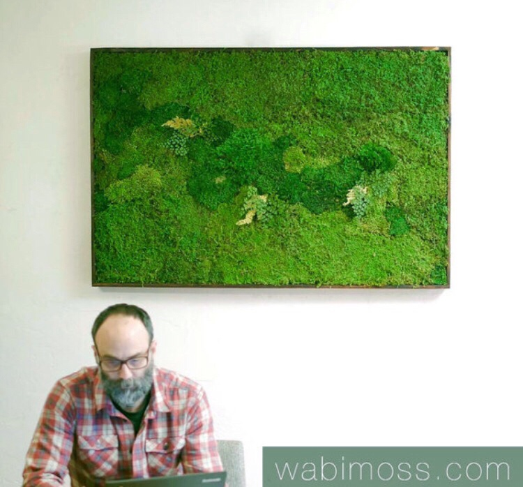 Charmant Moss Wall Art 54x36