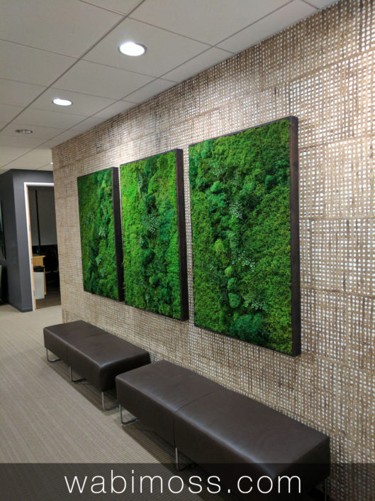 green wall art project