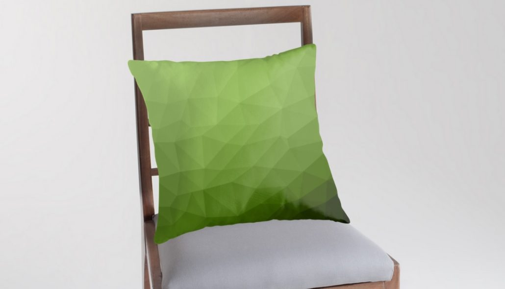 Pantone Greenery Throw Pillow