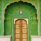 PAntone greenery color of the year door