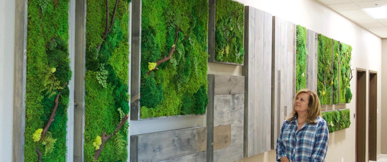 moss wall art project
