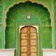 PAntone greenery color of the year door